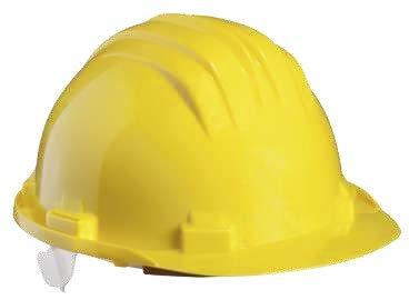 CAPACETE PVC BÁSICO COIFA INTERIOR COM 6 PONTOS SEM VENTILAÇÃO AJUSTE MANUAL EN397