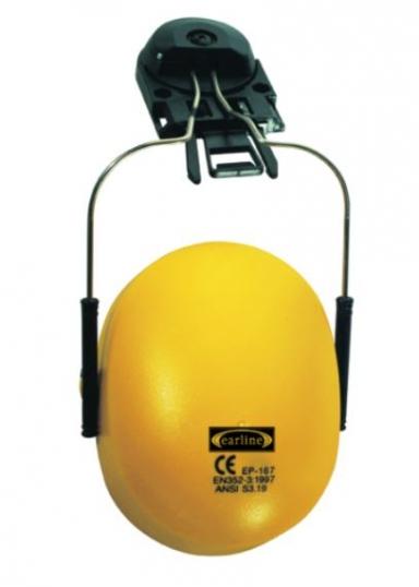 PROTETOR DE OUVIDOS P/CAPACETE AJUSTAVEL AMARELO SNR25,9 dB EN352-3